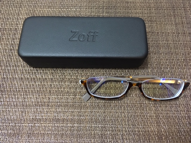 Zoffで度入りブルーライトカットメガネを作成 カット率50%の実力は?